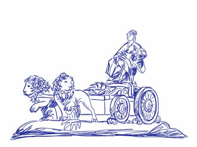 Hipomenes y atalanta leones