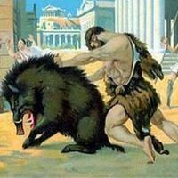 Hercules y el jabali de erimanto